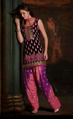 Punjabi Shirt with Indian Patiala  2014 Salwar Kameez