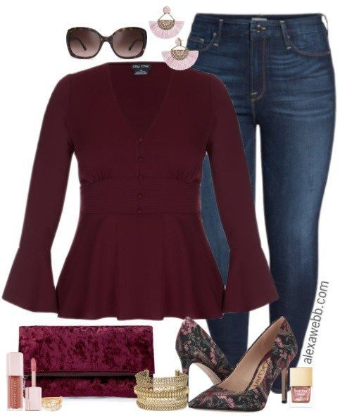 Plus Size Dressed Up Jeans Outfit - Plus Size Date Night Outfit - Plus Size Fashion for Women - alexawebb.com #alexawebb #fall