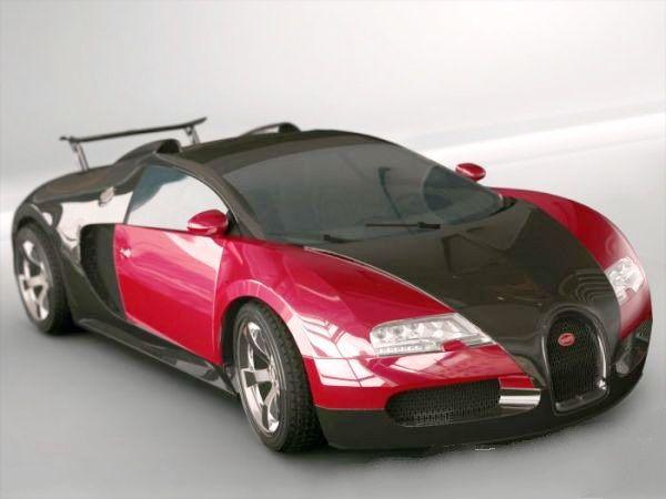 Bugatti Veyron 3d model Maya files free download - modeling