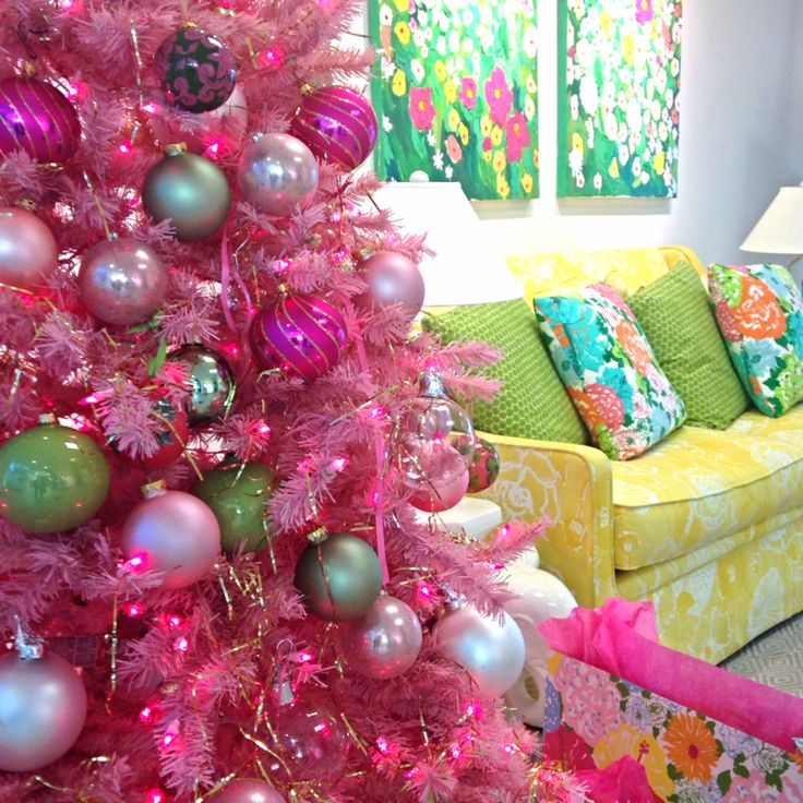 Tinsel in the Tropics- Lilly Pulitzer Pink Palace Headquarters