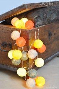 Home decor. Tierra - zestaw Cotton Ball Lights