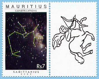 Sello: Constelación de SAGITARIO.