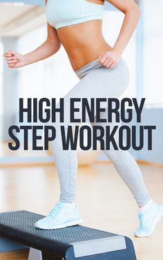 Grab your gym shoes and BURN calories with us during this high energy step workout (Video included)