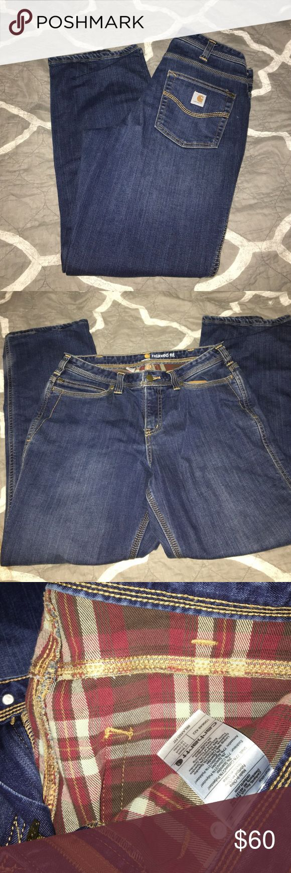 Carhartt insulated jeans Like new. Worn and washed once. Size 10 short. So warm. Relaxed fit. Carhartt Jeans Boot Cut