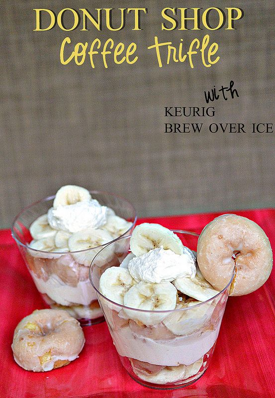 Donut Shop Coffee Trifle with Keurig Brew Over Ice #shop #BrewItUp #BrewOverIce