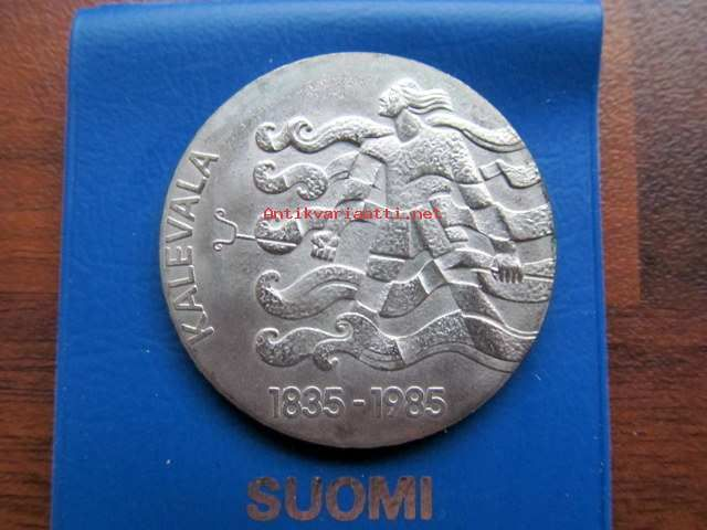 50 markkaa 1985 Kalevala 150 v Hopeinen Juhlaraha, 1985 (#381367) - Antikvariaatti.net