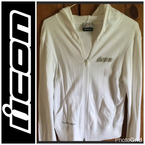 Ride Icon Motorsports White Bling Jacket Small 🌟Price Reduced🌟Like New Wore Once, From Smoke & Pet Free Home Icon Motorsports Jackets & Coats