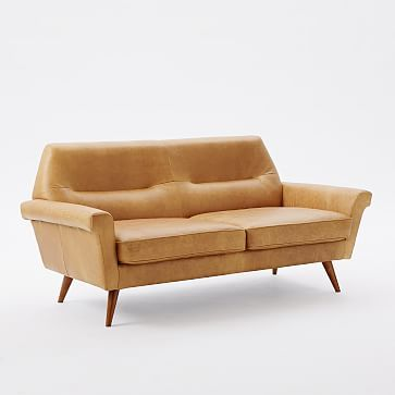 High Quality Denmark Leather Sofa, Cigar