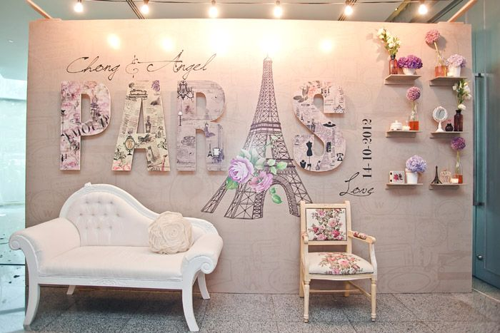 www.theweddingnotebook.com. Concept and décor by Storybook. Parisian-themed wedding: