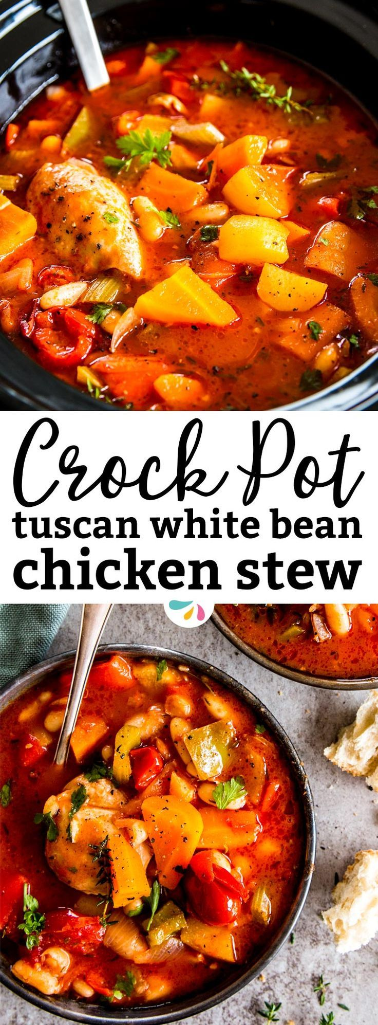 This is a healthy chicken stew you can make in your crockpot! It has rustic Tuscan flavors and makes a hearty red tomato based sauce. This is simple homemade comfort food at its best! Let the slow cooker do the work for you and enjoy a heart warming old f http://healthyquickly.com/55-supreme-vegan-recipes-dinner/