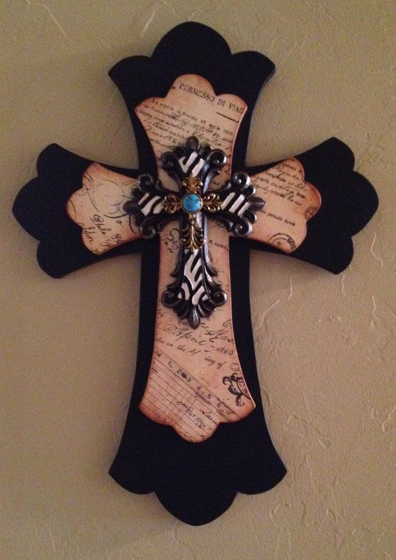 Beautiful Handcrafted Wooded Cross by TheLaziDaizy on Etsy, $25.00
