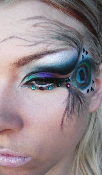 Cool Halloween makeup or just cool make up..