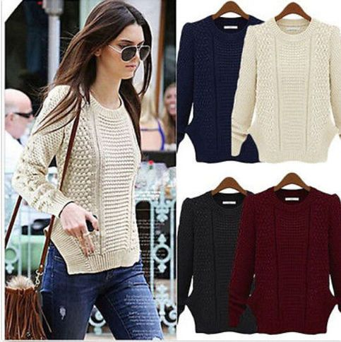 Description  Women's+Lady+Girls+Casual+Long+Sleeve+Knitwear+Jumper+Cardigan+Coat+Jacket+Sweater+Pullover 100%+Brand+New+and+High+Quality! Collar:+O-Neck Sleeve+Length:+Full Material:+Cotton+Blend,+Acrylic Color:+Wine+Red,+Deep+Blue,+Beige,+Green Size:+One+size+fits+all Shoulder:+39cm/1...