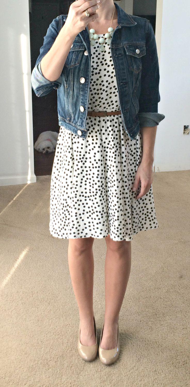 Stitch Fix Review: 41Hawthorn Sugar Dot Print Dress | www.pearlsandsportsbras.com |