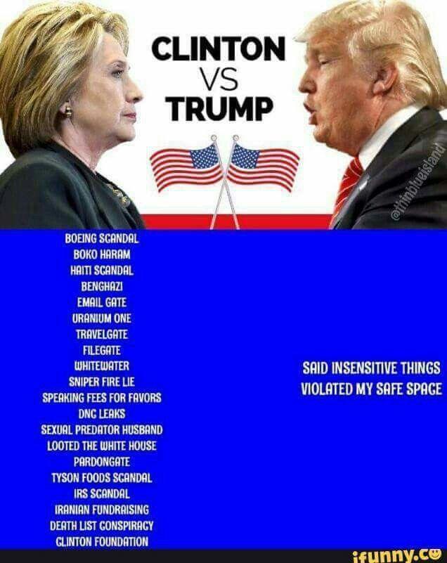 Trump vs Clinton - facts are facts