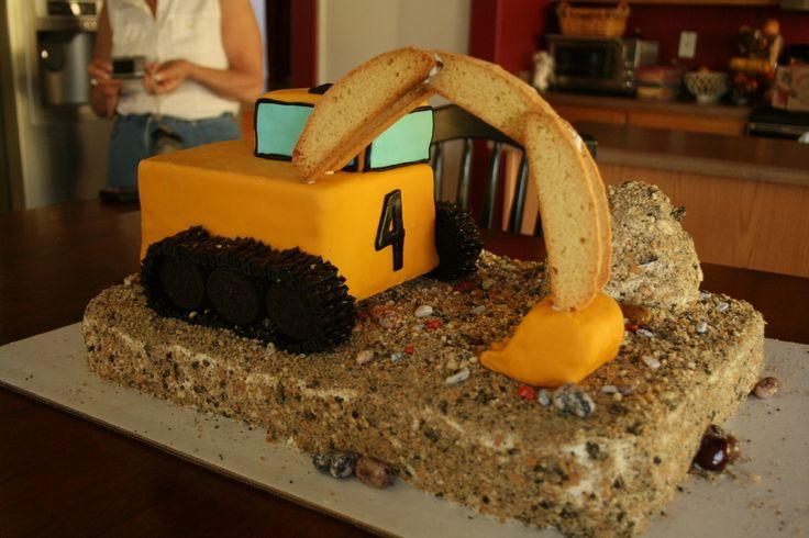 Backhoe Cake Ideas