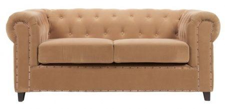 Небольшой  и практичный  диван Verona– станет вашим любимым местом отдыха. Модель выполнена на деревянном каркасе (берёза) обшита велюром в карамельном цвете, с красивой  строчкой на высоких, округлых подлокотниках. Удобство, высокое качество комплектующих, дает право дивану получить высокую оценку  покупателей.             Метки: Маленькие диваны.              Материал: Ткань, Дерево.              Бренд: DG Home.              Стили: Классика и неоклассика.              Цвета: Бежевый.