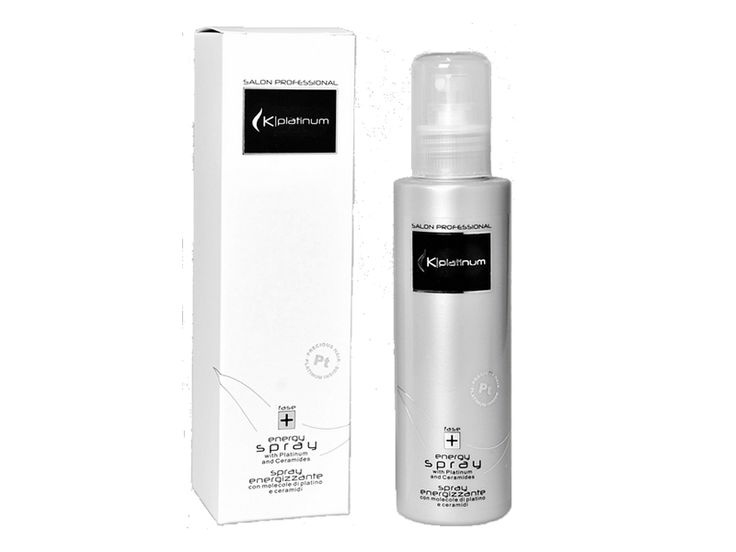 Kplatinum Energy Spray - Reconstructor spray which doesn't need rinsing. Really easy to use, it strengthens and restructures thin and damaged hair. Use it with Kplatinum Straightener for a long lasting effect.