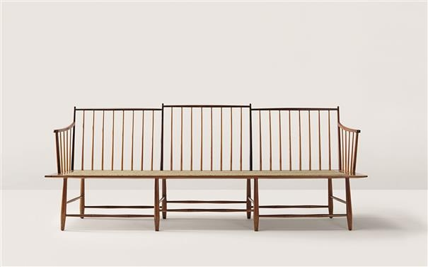 EDWARD WORMLEY  Rare settee, model no. 4871, ca. 1948