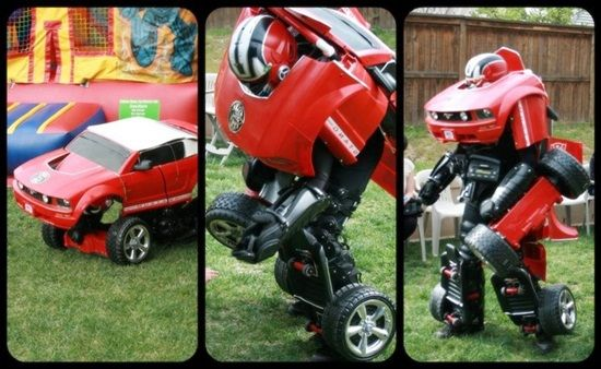 Turn To Transformer with Drive Suit Costume