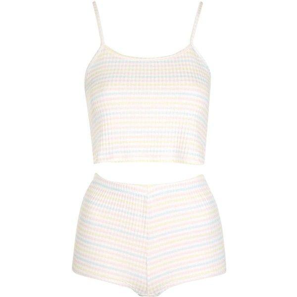 TopShop Petite Striped Pyjama Set ($38) ❤ liked on Polyvore featuring intimates, sleepwear, pajamas, striped pajama set, striped pjs, striped pyjamas, striped pajamas and topshop