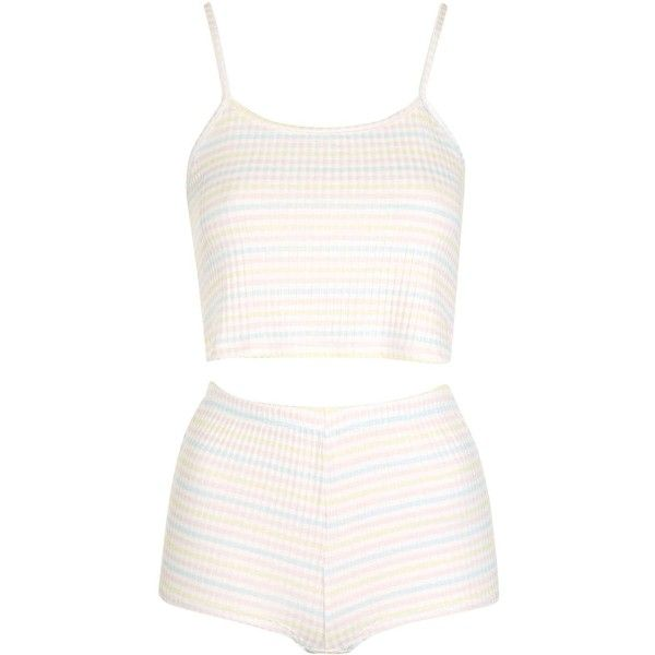 TopShop Petite Striped Pyjama Set ($38) ❤ liked on Polyvore featuring intimates, sleepwear, pajamas, striped pajama set, striped pjs, striped pyjamas, striped pajamas and topshop