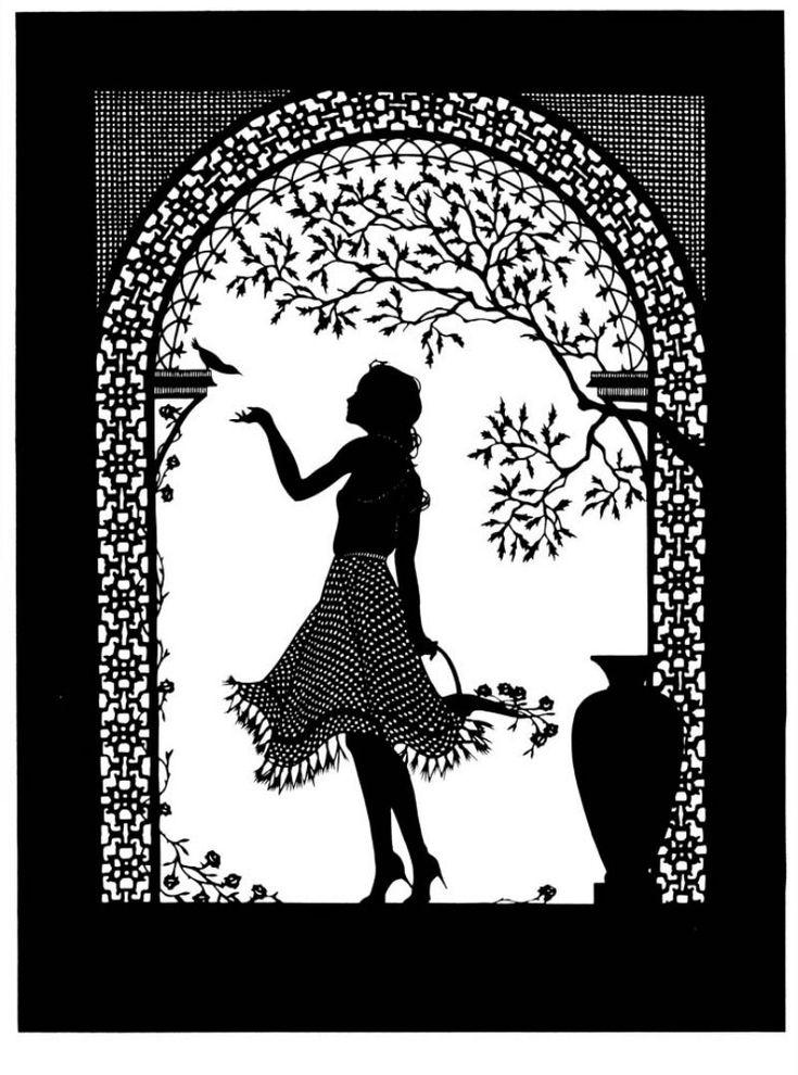 Восьмое марта, открытки с графикой черно-белой