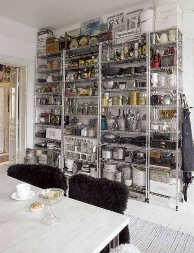 Decorating Kitchen With Chrome Shelving On Pinterest