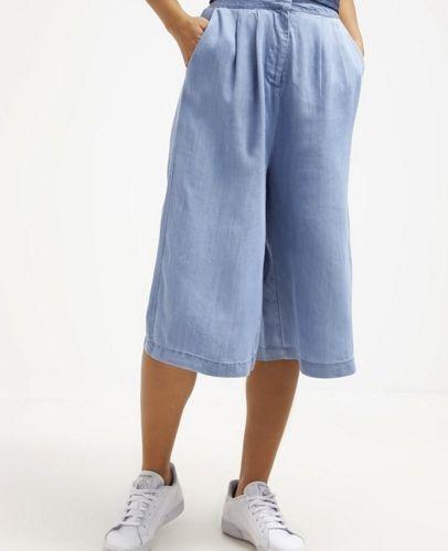 Minimum MARGRETA kuloty jeansowe Spodnie materiałowe light blue