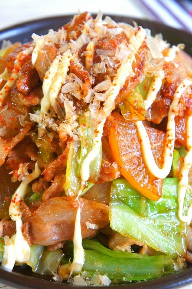 簡単【こってり♡ご飯がススム】豚肉と大根とキャベツの照り焼き と 嬉しかったLINE   珍獣ママ オフィシャルブログ「珍獣ママのごはん。」Powered by Ameba