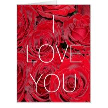 #Huge #Love #Card Wedding Proposal Red Roses Floral, you can change all text