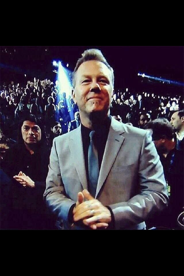 James Hetfield Grammys 2014. He just gets more gorgeous as time goes on.