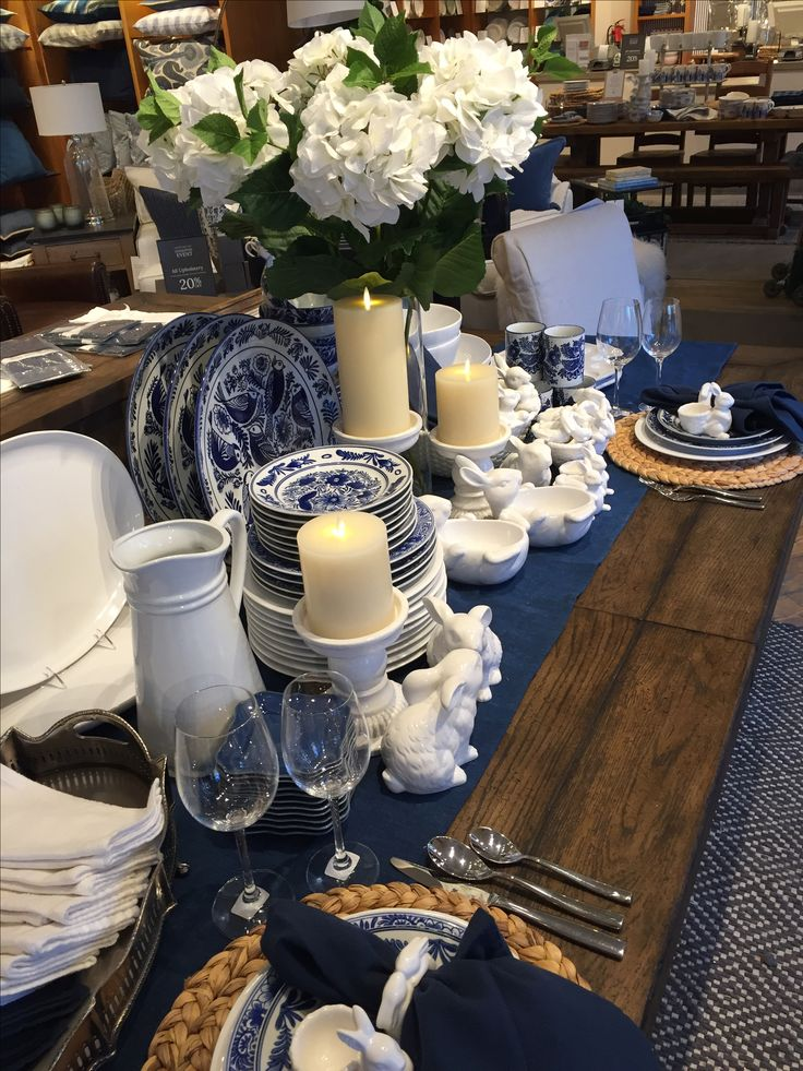 Elsie and Au Natural Dinnerware with bunnies!