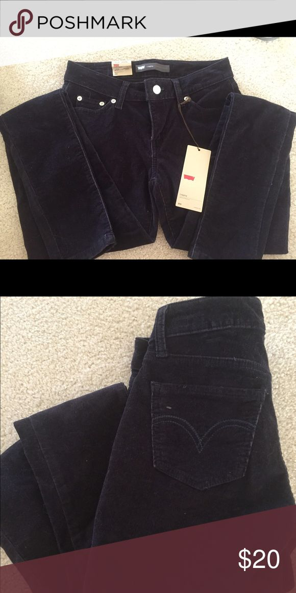 Levi Corduroy Plum Jeans Plum colored corduroy legging styled jeans. Super skinny. Never worn. New with tags. Size 3. Levi's Jeans Skinny
