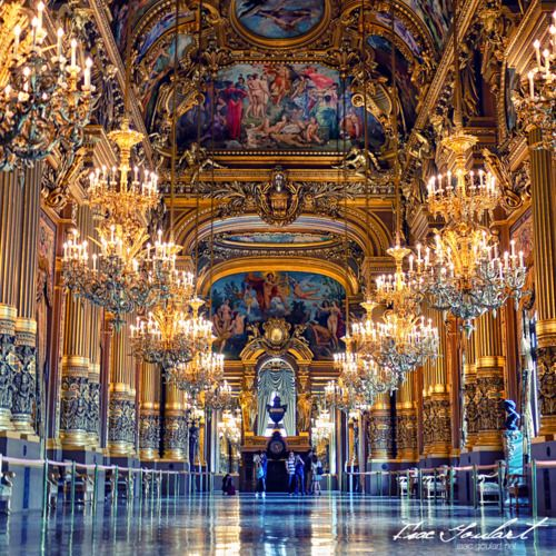 """save999things:    # 57 Opéra Garnier, Paris  """"What is this? It's not a style; it's neither Louis Quatorze, nor Louis Quinze, nor Louis Seize!"""" """"Why Ma'am, it's Napoléon Trois"""" replied Garnier """"and you're complaining!""""  Empress Eugénie and Charles Garnier"""