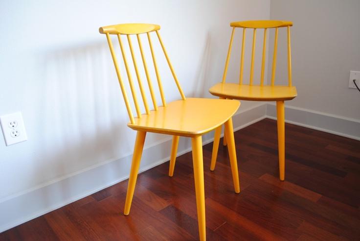 Original FDB stol Model J77  Ønskes i god stand - farven er underordnet.