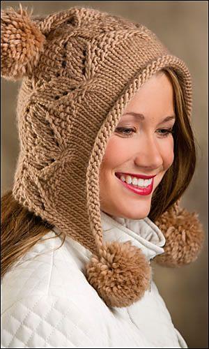 Ravelry: Mocha Hoodie Hat pattern by Sandi Prosser