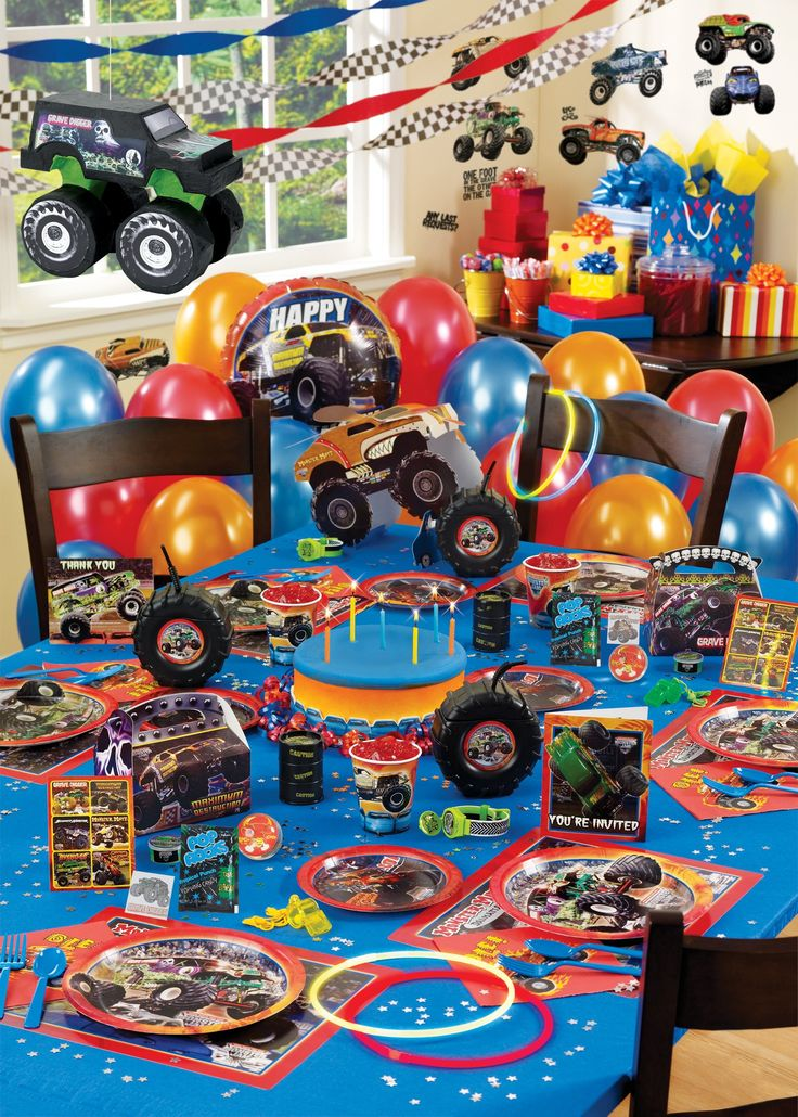 Monster Jam Ultimate Party Pack Isaacs Next Birthday Theme