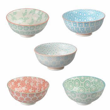 Oriental Selection Set Of 5 Orted Rice Bowls Find This Pin And More On Tokyo Design Studio