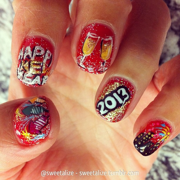 43 best happy new year nail designs images on pinterest new happy new years nails wow prinsesfo Choice Image