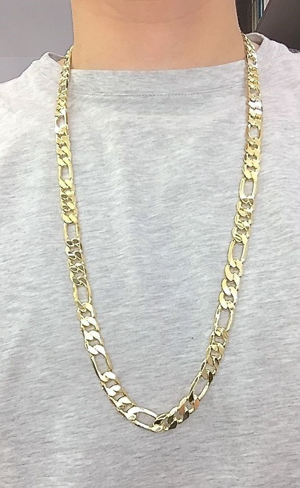 646a97567f2634 mens hip hop 12mm Figaro chain 30