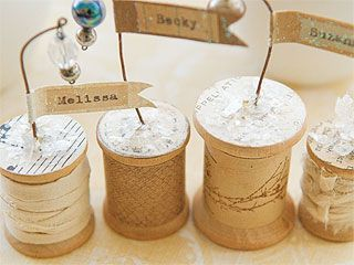 These would make lovely wedding place settings