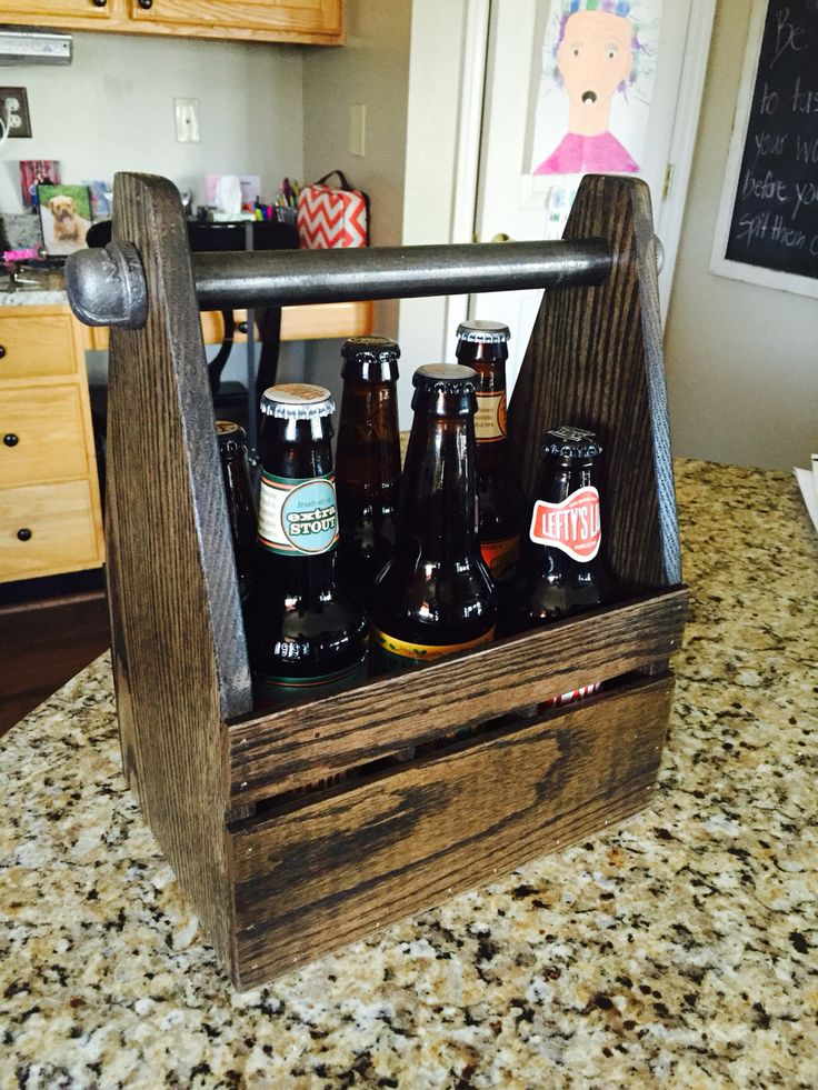 black iron furniture. Six Pack Beer Caddy Made From Red Oak And Black Iron Pipe I Got The Furniture