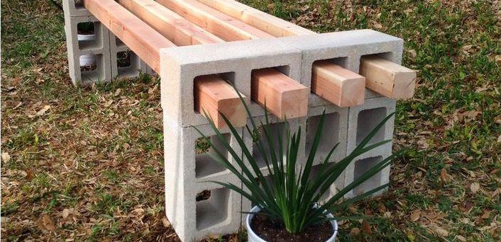 basteln mit beton-DIY gartenmöbel