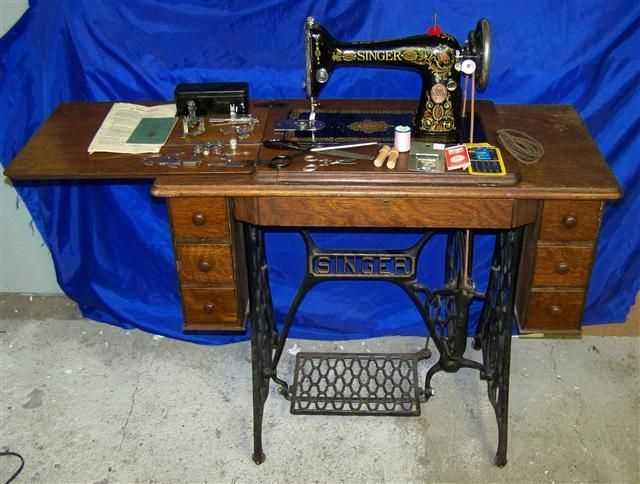 SINGER 66 REDEYE TREADLE SEPT 9TH 1919 SEWING MACHINE - I am now a proud owner of one of these beauties!!!