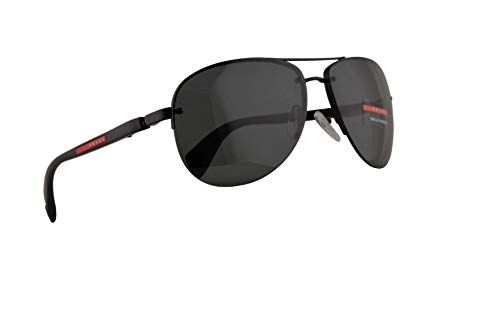 90bed1347fd5b Prada PS56MS Sunglasses Black Demi Shiny w Grey Lens 62mm 1BO1A1 PS 56MS SPS  56M