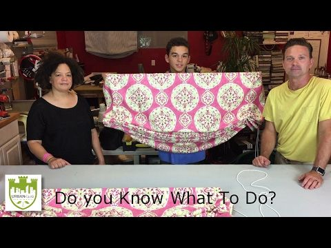 DIY Window Treatments - How To Make a Relaxed Roman Shade Part 1 - YouTube