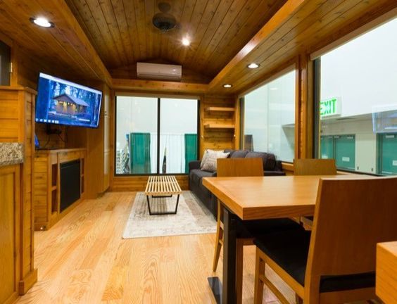 Rustic Meets Luxury In This Beautiful Turnkey Park Model RV Home