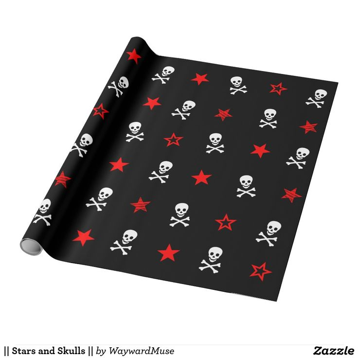 || Stars and Skulls || Wrapping Paper