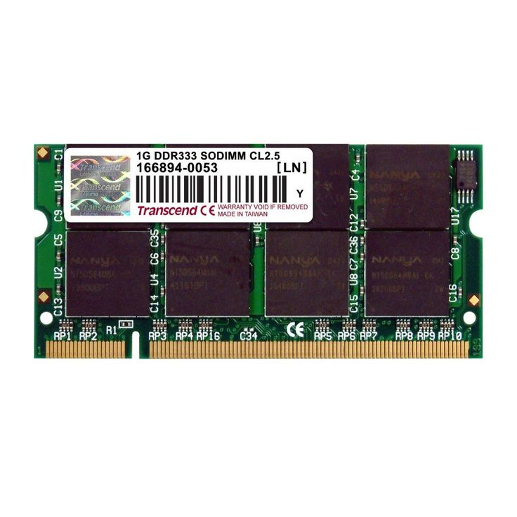DDR-333/PC-2700 SO-DIMM Memory Module 200-pin Configuration 2.5 CAS Latency 1.5 V Specified Voltage